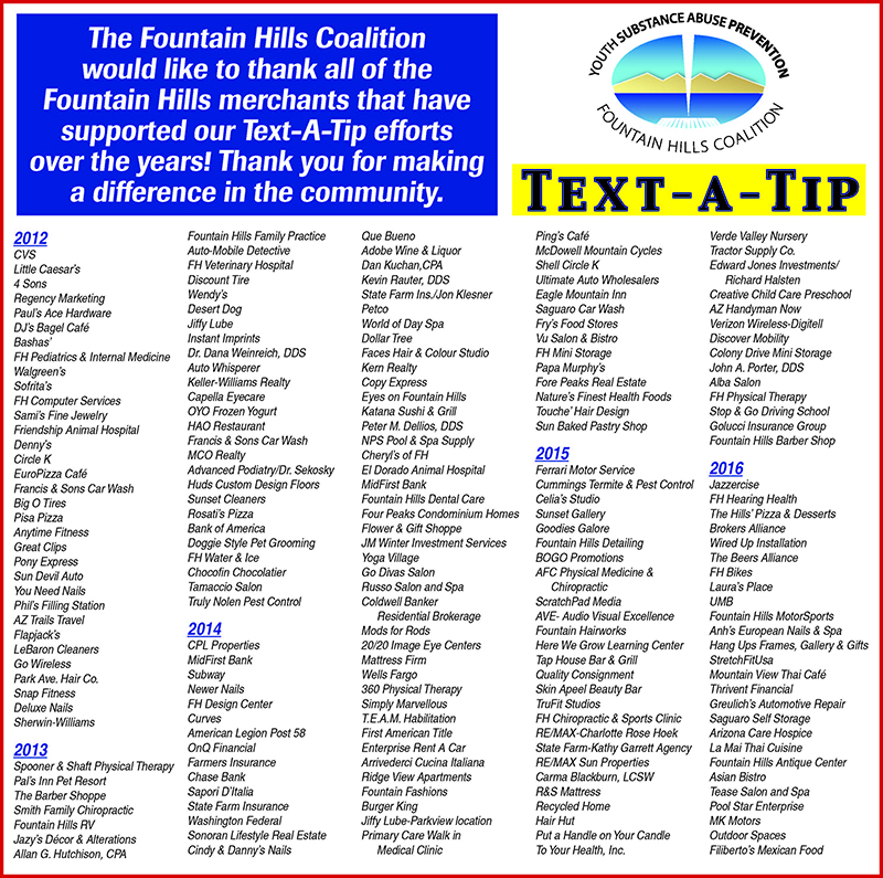 What We Do – Fountain Hills Coalition
